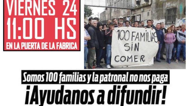 Trabajadores de Textil Iberoamericana reclaman por sueldos no pagos