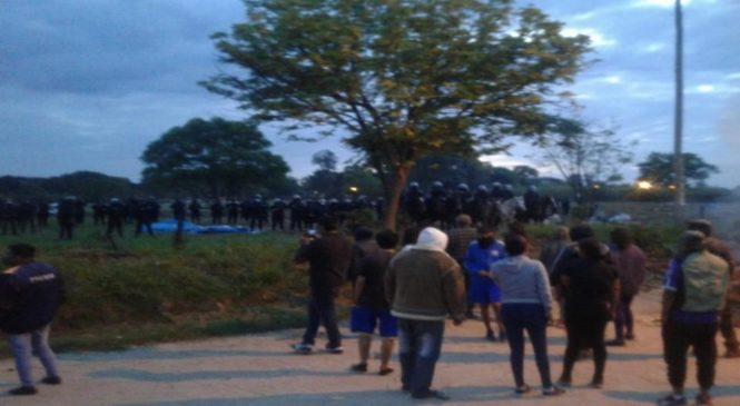 Un desalojo y represión policial dejó heridos en Tartagal