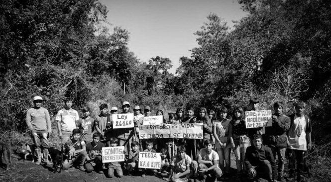 Comunidad mbya Kaá Kupe: ponen el cuerpo en defensa de sus bosques