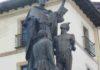 Tumbemos la estatua del fraile-conquistador Andrés de Urdaneta en Ordizia, Gipuzkoa (País Vasco)