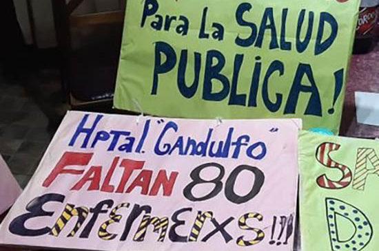 Trabajadoras en riesgo en el Hospital Gandulfo de Lomas de Zamora
