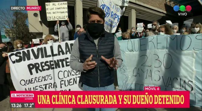 """500 empleos en juego por dos clínicas clausuradas debido a que el dueño fue acusado de """"propagación dolosa"""""""