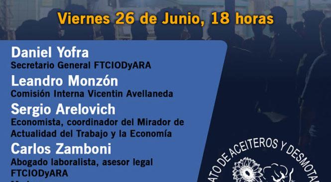 Videoconferencia: intervención y defensa de los puestos de trabajo en Vicentin