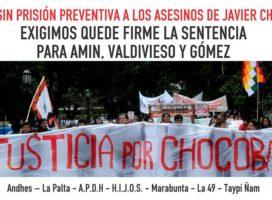 Dejan sin prisión preventiva a los asesinos de Javier Chocobar