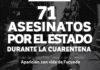 Represión en pandemia: Al menos 71 asesinatos estatales en 4 meses
