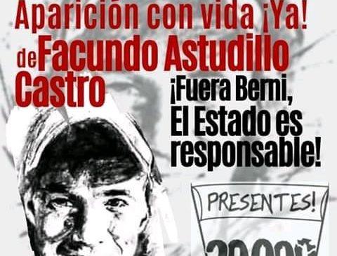 El Encuentro Memoria Verdad y Justicia marchará por Facundo a 3 meses de su desaparición