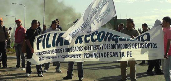 Caravanas y banderazos en defensa de los puestos de trabajo de Vicentin
