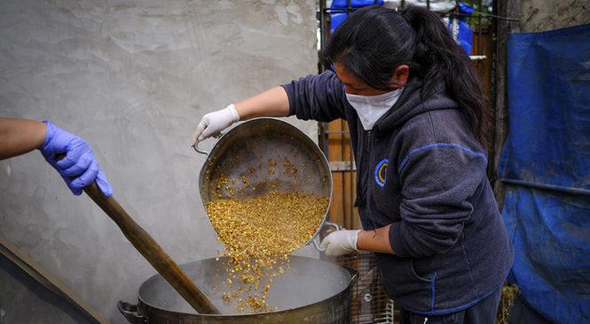 Nueva jornada de ollas populares en reclamo de asistencia alimentaria y sanitaria