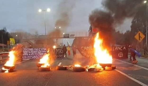 Continúan las protestas tras ataques racistas en el sur de Chile