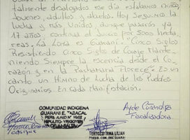 Salta: La Loma es Guaraní