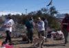 Bariloche: mapuches y organizaciones sociales reclamaron por tierras con una olla popular