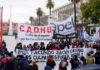 El EMVyJ marchó por justicia para Facundo Astudillo Castro