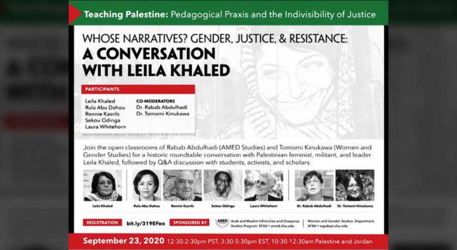 Zoom, Facebook y YouTube censuran seminario de la Universidad Estatal de San Francisco en el que participaba activista palestina