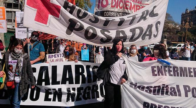 """Jornada Nacional de Lucha en Salud: """"la desprecarización es una prioridad laboral y sanitaria"""""""