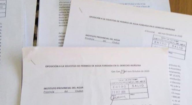 Comunidades de la Meseta en oposición al permiso de agua en Chubut