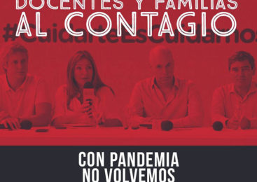 Paro y caravana de la docencia porteña contra la reapertura presencial en pandemia