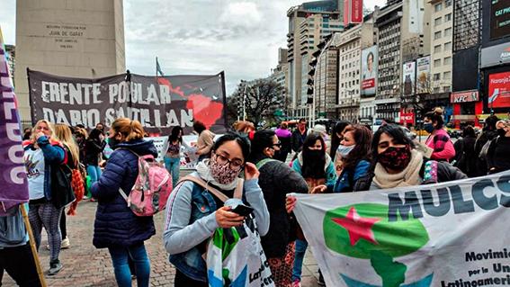 Buenos Aires: Movilización denunciando al Ministerio de Mujeres, Géneros y Diversidad, por su inoperancia