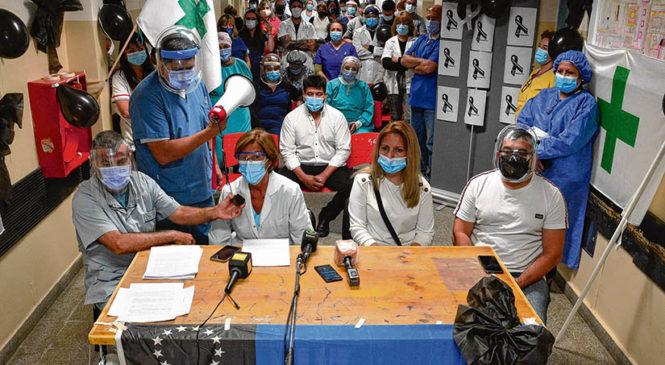 Río Negro: Protesta de trabajadores de la salud