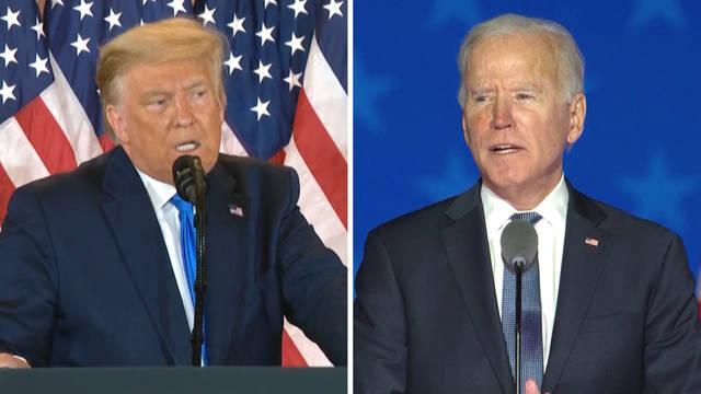 Reñida disputa electoral en EE.UU., aún sin ganador: Biden por debajo de lo esperado y Trump alimenta el caos adjudicándose una victoria prematura