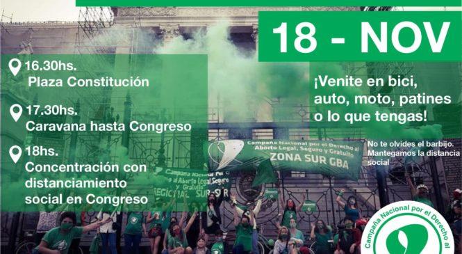 Caravana verde al Congreso