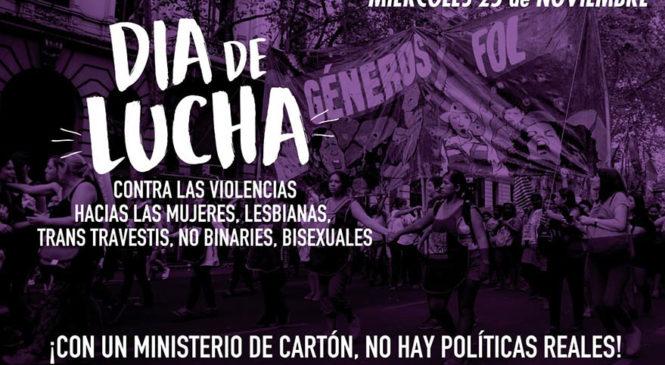25 de Noviembre, día de lucha contra las violencias hacia las mujeres