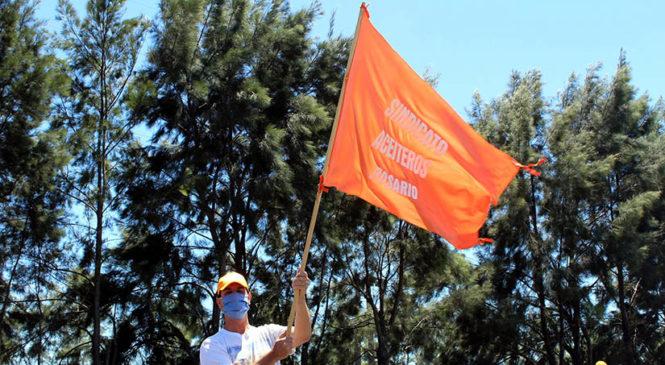 Asamblea aceitera en el marco de la huelga nacional