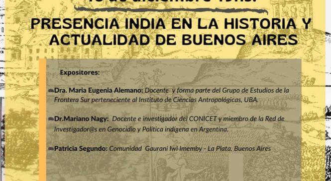 Tinku virtual: Presencia India en la historia y actualidad de Buenos Aires