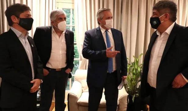 Alberto arrancó un plan de unificación de la CGT con cadena de gestos a los Moyano
