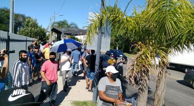 Intersindical de trabajadores de Molinos Río de la Plata movilizó reclamando un bono pandemia
