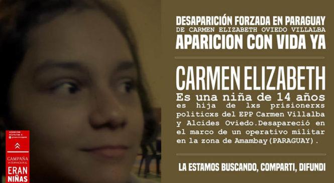 Desaparición forzada de la niña Carmen Elizabeth Oviedo Villalba (14) en el Paraguay