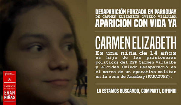 Comité de Apoyo a Eran Niñas-Aparición con vida ya de Lichita