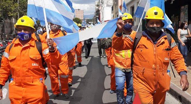 Mineros marcharon en Jujuy por los 600 puestos de trabajo de El Aguilar