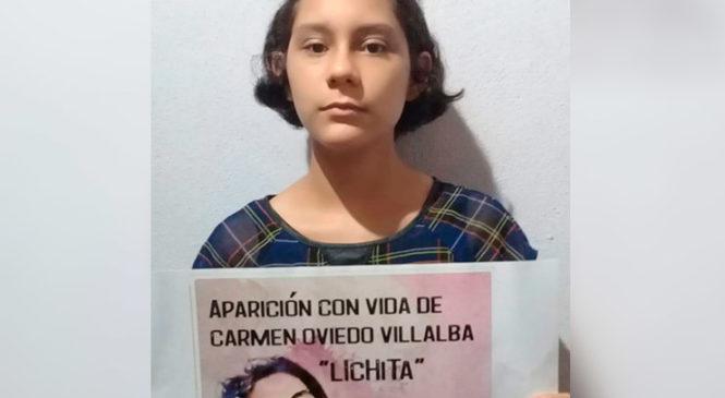 Campaña de fotos y videos por la aparición con vida de Lichita