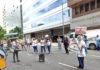 Acampe de los trabajadores de salud frente al Ministerio de Salud