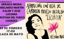 25/02 – 17 hs. Por Lichita a Plaza de Mayo