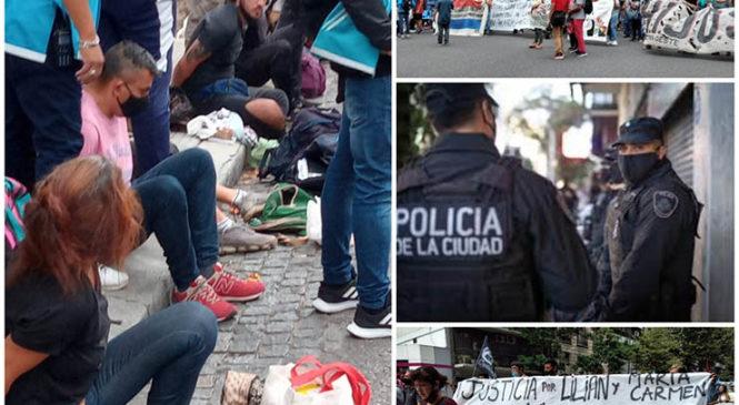 Represión al reclamo por Lichita, Laura, Lilian y María Villalba ante la Embajada Paraguaya