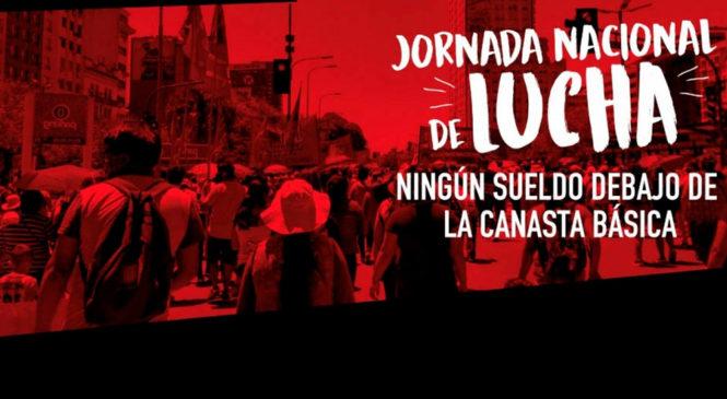 Ollas populares en Plaza de Mayo contra el hambre y por aumento salarial