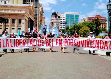 Celebran la excarcelación de Belén Guevara en CABA
