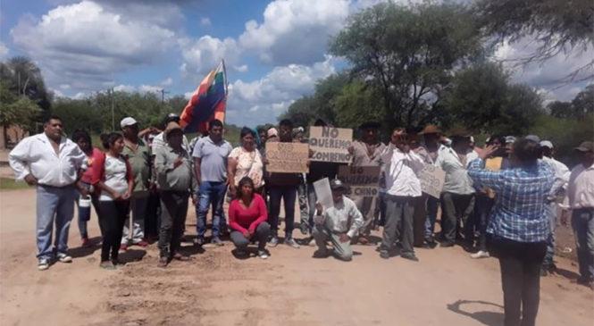 """""""Repudiamos a las megaempresas chinas que se quieren instalar en territorio indígena"""""""
