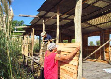 """""""Trabajo comunitario"""": más que unabandera en Punta Querandí"""