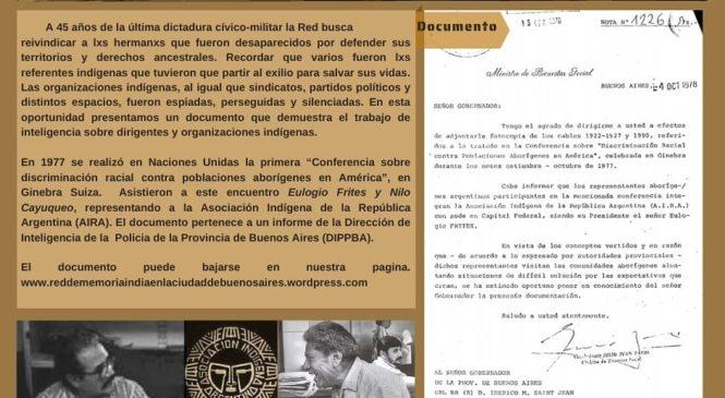 Recuperando el pasado reciente del Movimiento Indio de Buenos Aires