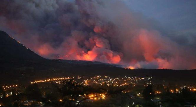 Más de 7 focos de incendio arrasan con los bosques y viviendas en la Comarca Andina
