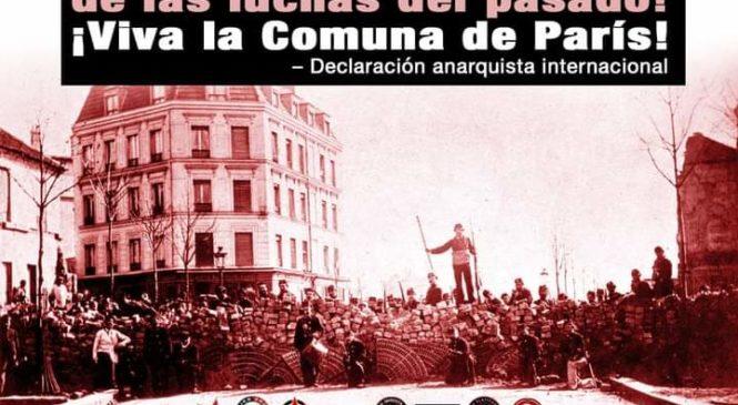 Las victorias del futuro florecerán a partir de las luchas del pasado. Viva la Comuna de París!