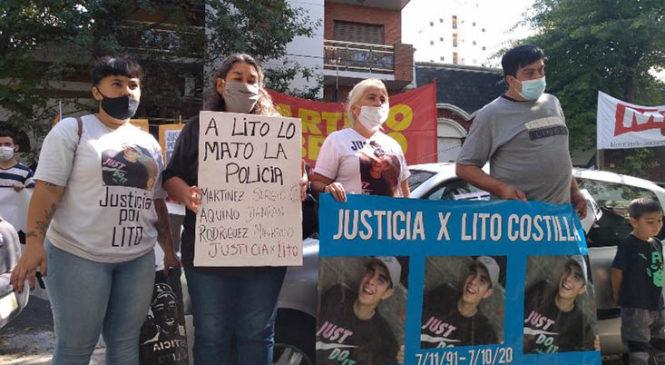 Lito Costilla: la familia exigió el cambio de carátula ante las pruebas que vinculan a la policía con el crimen