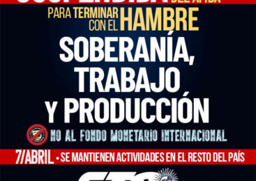 La CTA-A suspende la movilización en el AMBA ante el agravamiento de la situación sanitaria