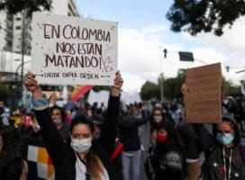 Colombia: cifras de asesinatos y violencia policial