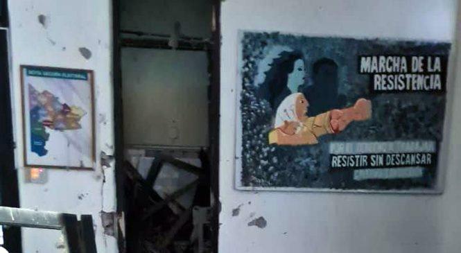 Atacaron con material explosivo un local del Frente de Todos en Bahía Blanca