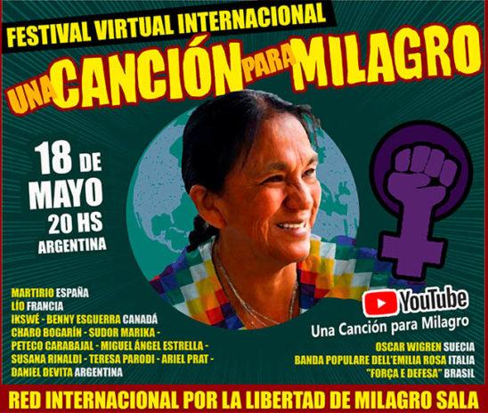 Festival Virtual Internacional por la libertad de Milagro Sala