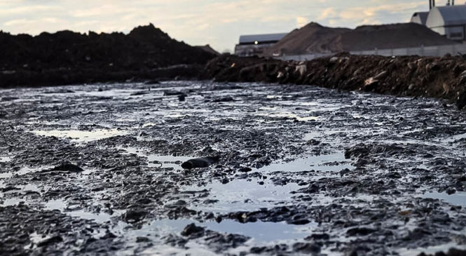 La basura del fracking en Vaca Muerta