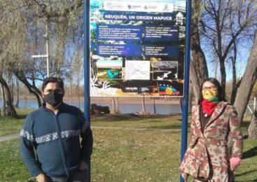 Neuquén: el Paseo de la Costa ya tiene cartelería mapuche